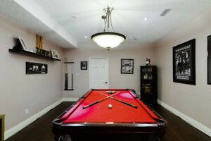 Newer Legacy billiards pool table with Accessories with Light