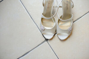 Wedding Shoes, Shoe Clips and Hair Piece
