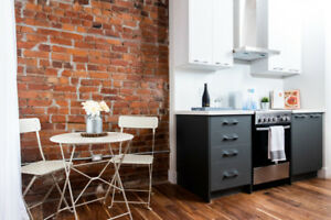 1 & 2 bedroom modern/industrial apartments at Treble Hall!