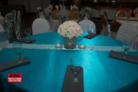 chair covers, table cloths etc.