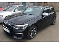 2016 BLACK BMW M135i 3.0 T SPORT PETROL AUTO 3DR HATCHBACK CAR FINANCE FR 79 PW
