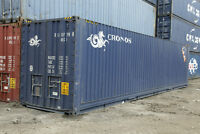 20 and 40' sea shipping containers for sale at the best prices