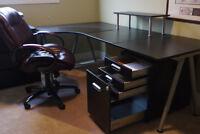 IKEA GALANT Corner Desk and all accessories