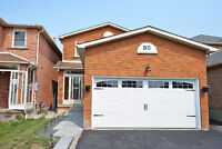 Like New 4 Bed Detached for rent in South Brampton