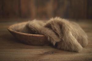 Newborn Photography Prop Destash Faux Fur Basket Stuffer Layer