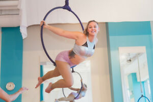 $12 Intro to Aerial Hoop, Trapeze, and Handstand Classes