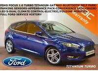 2015 Ford Focus 1.0T (125ps) EcoBoost (s/s) Titanium-FULL FORD SERVICE HISTORY-