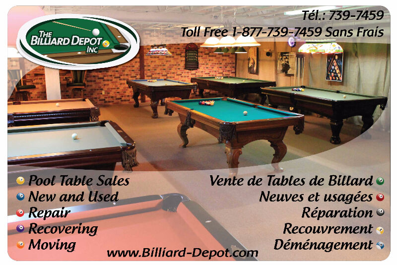 Pool Table Service Work Other Fredericton Kijiji - Pool table description