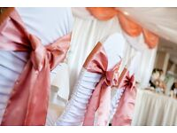 LYCRA CHEAP WEDDING CHAIR COVER HIRE***ONLY 50P EACH OR 70P inc Sash***