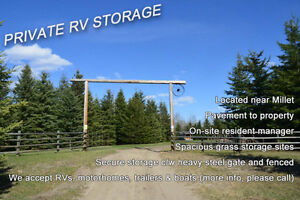 Private Storage for RVs, Motorhomes, Trailers and Boats