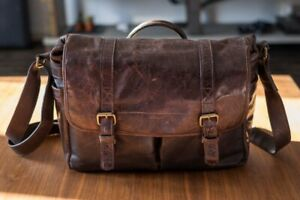 ONA Brixton - Camera DSLR Messenger Bag Leather Cognac