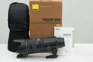 Nikon 70-200mm f2.8 professional lens