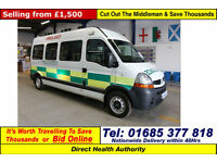 2007 - 56 - RENAULT MASTER LM35 2.5DCI 120PS 6 SEAT DISABLED ACCESS PTS MINIBUS