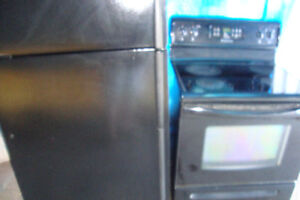 Self-Cleaning  Black STOVE and Maytag Black fridge $200. each