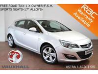 2015 Vauxhall/Opel Astra 1.6CDTi (110ps) ecoFLEX (s/s) SRi-FREE ROAD TAX-F.S.H.