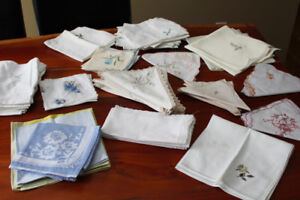 Assorted European Table Linens - Embroidery and Lace