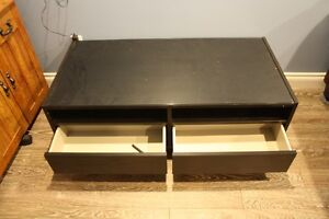Ikea Black Coffee Table with Glass insert