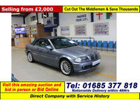 2000 - W - BMW 323 CI 2.5 PETROL CONVERTIBLE (GUIDE PRICE)