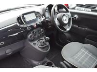 2016 Fiat 500 1.2 Lounge (s/s) 3dr Petrol black Manual