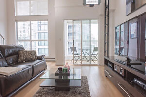 FULLY FURNISHED 1 BEDROOM LOFT IN YALETOWN - AVAILABLE IMMEDIATE