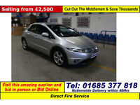 2008 - 08 - HONDA CIVIC SE 2.2 I-CDTDI 5 DOOR HATCHBACK (GUIDE PRICE)