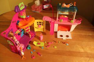 Polly Pocket Party Boat Adventure /Playhouse Playsets