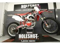 HONDA CRF 450 2015 MOTOCROSS BIKE OHLINS FRONT FORKS INSERTS TWIN EXHAUST
