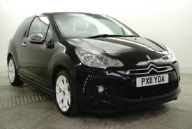 2011 Citroen DS3 BLACK AND WHITE Petrol black Manual