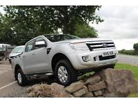 Ford Ranger 2.2TDCi 150PS 4x4 XLT in Silver + A/C, Pass Airbag & Tacho