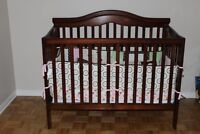 Complete baby bedroom set - crib converts to double bed