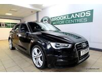 Audi A3 2.0 TDI 150PS S Line Auto [4X AUDI SERVICES, SAT NAV, LEATHER and ?30 RO