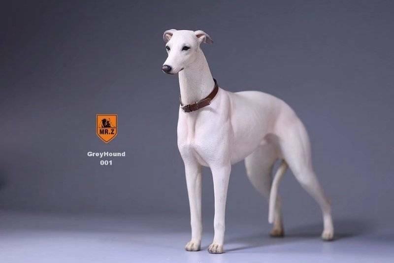 Realistic Greyhound  Sitting Dog Life Like Statue Figurine Home/Garder NEW AQ5