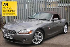 BMW Z4 3.0 auto 2003 Roadster FSH RARE+DESIRABLE RED LEATHER INTERIOR