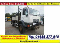 2004 - 04 - MAN LE 18.220 4X4 18TON DROPSIDE C/W REAR MOUNTED CRANE GUIDE PRICE