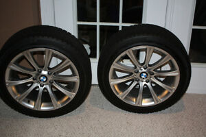 "18x8"" BMW RIMS + MICHELIN PA4 WINTER TIRES (235/35/18)"