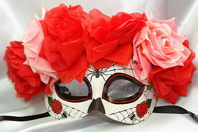 Día de Muertos day of the dead flower Halloween costume Party Masquerade Mask - Day Of The Dead Costume Mask