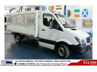 2015 - 15 - MERCEDES SPRINTER 313 2.2CDI 129PS CAGED TIPPER (GUIDE PRICE)
