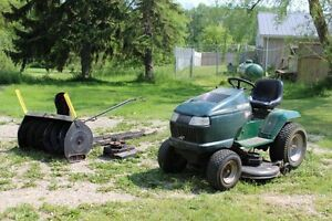 Craftsman lawn tractor and snow blower
