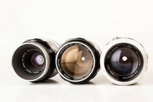 Nikon lens collection, Nikon 35 mm, Nikon 50 mm 1.4...