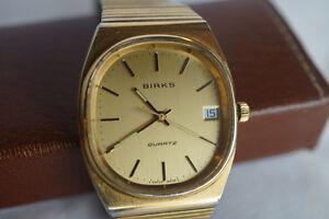 Vintage Birks quartz watch, seven jewels