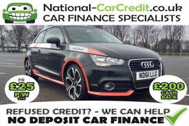 Audi A1 1.6 TDI COMPETITION LINE Good / Bad Credit Car Finance (black) 2011