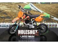 2006 KTM SX 50 MOTOCROSS BIKE RENTHAL HANDLEBARS, NEW GRIPS