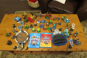 Skylanders Trap team and Superchargers with bunch of characters