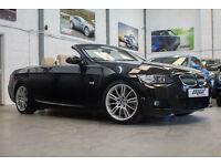 BMW 330d M Sport Convertible, 57 Reg, 58k, Sapphire Black, Cream Leather.