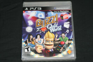 SONY PLAYSTATION 3 GAME BUZZ QUIZ WORLD ***NEW*** SEALED