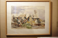 REDUCED ORIGINAL WATERCOLOR GRACE M HOGG POTASH MINE