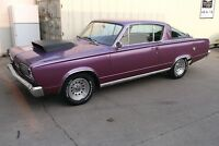 1966 BARRACUDA VERY RARE SHAPE ON THIS MUSCLE CAR