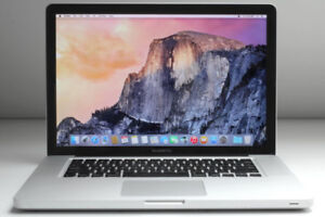 MacBook Pro, Intel i5 (QuadCore), 4GB ram, 180GB SSD, os x 10.13