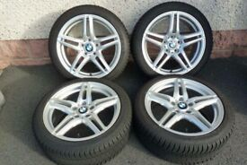 BMW winter tyres with alloys