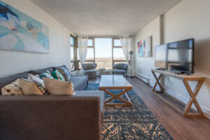 Fully furnished Executive Condo With Water Views